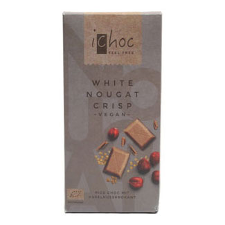 iChoc White Chocolate Nougat Crisp Bar MAIN
