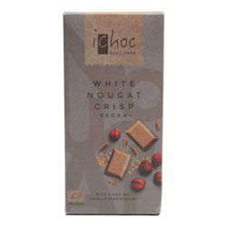 iChoc White Chocolate Nougat Crisp Bar THUMBNAIL