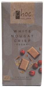 White Chocolate Nougat Crisp bar by iChoc