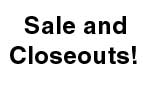 Sale and Closeout Products