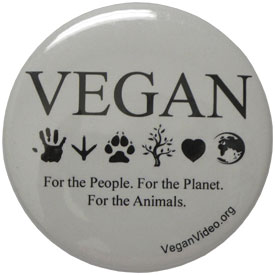 Vegan Compassion Button by NonviolenceUnited.org