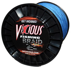 50lb Vicious Blue Braid - 1500 Yards MAIN