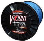 10lb Vicious Blue Braid - 1500 Yards THUMBNAIL