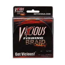 50lb Vicious Hi-Vis Yellow Braid - 150 Yards MAIN