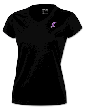 Black w/ Purple  Vic Performance V-Neck MAIN
