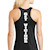 Black Vic Racer Back Tank SWATCH