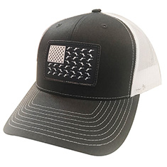 Vicious Flag Patch Adjustable Charcoal Hat MAIN