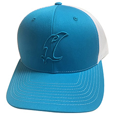 Vic Outline Adjustable Blue Hat MAIN