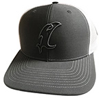 Vic Outline Adjustable Charcoal Hat THUMBNAIL
