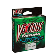 "6lb Vicious 100% Fluorocarbon - 100 Yards, .009"" Avg. Dia. MAIN"