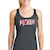 Gray Vicious Racer Back Tank SWATCH