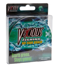 "10lb Vicious Hi-Vis Yellow No-Fade Braid - 150 Yards, .004"" Avg. Dia. MAIN"