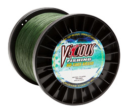 50lb Vicious Moss Green No-Fade Braid - 3000 Yards MAIN