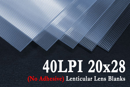 40 LPI Lenticular Sheets without Adhesive