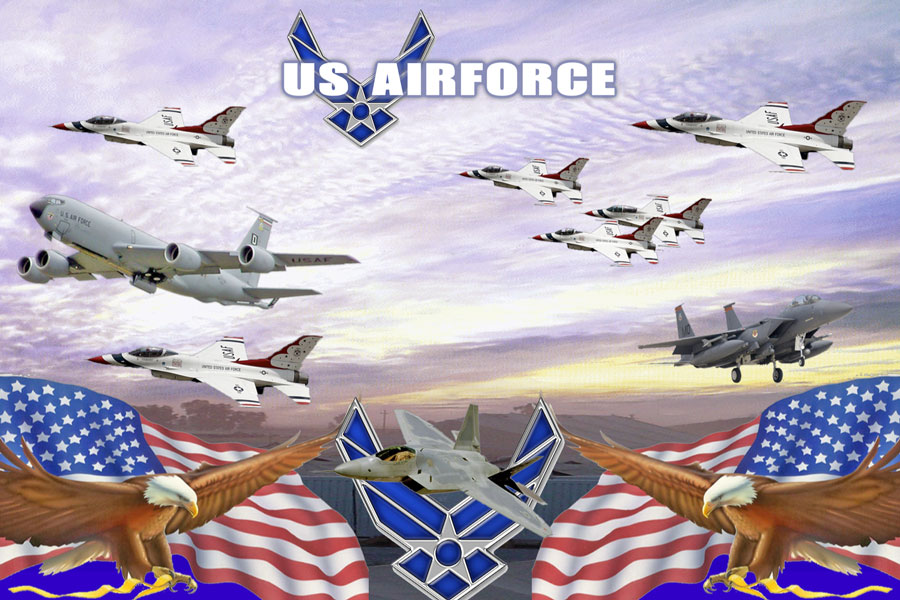 Air Force 3D Background and Foreground THUMBNAIL