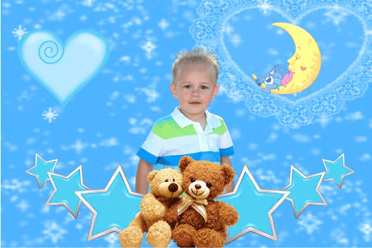 Baby Boy 3D Background and Foreground THUMBNAIL