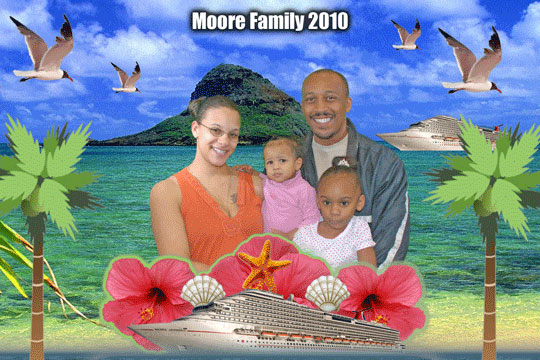 Cruise Hawaii 3D Background and Foreground