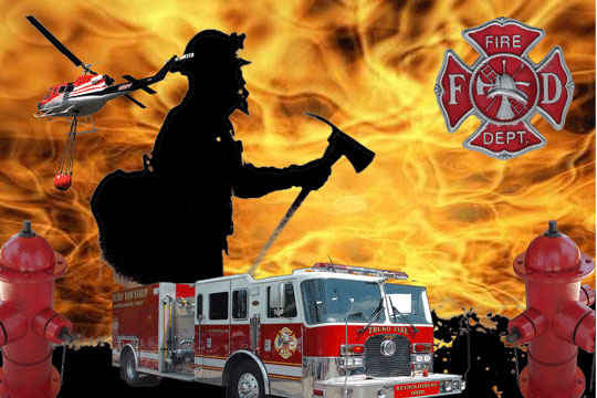 Fire Fighter 3D Background and Foreground
