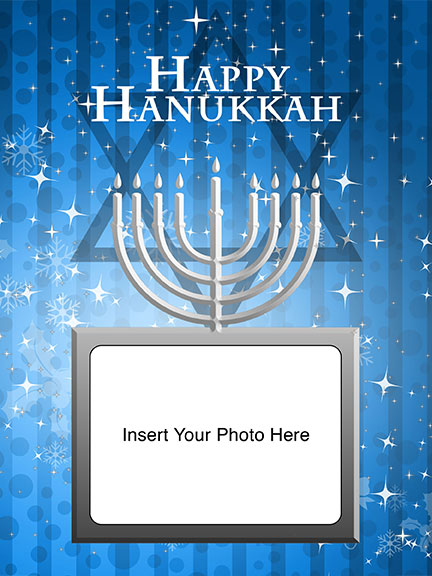 Hanukkah 3D Background and Foreground