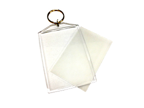2x3 Clear Key Chains with 60 LPI Lenticular Lens (25 Minimum) LARGE