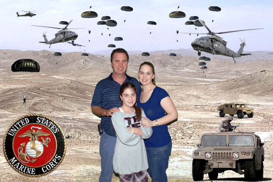 Marines 3D Background and Foreground THUMBNAIL