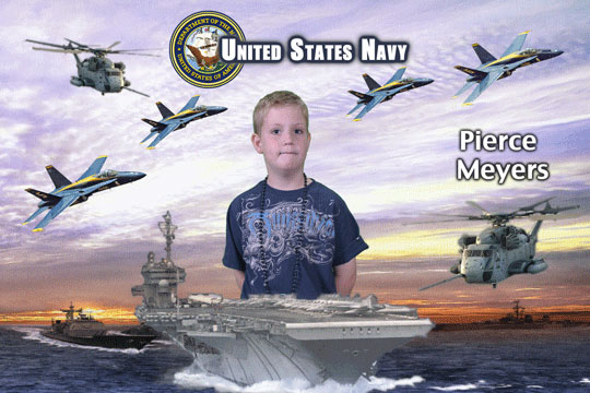 Navy 3D Background and Foreground THUMBNAIL