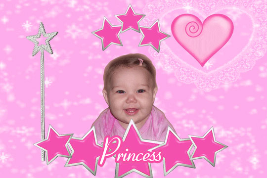 Baby Girl 3D Background and Foreground