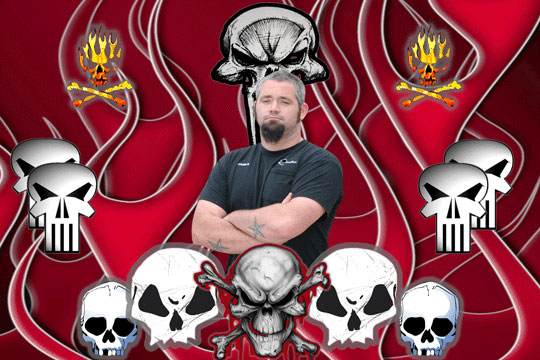 Skulls 3D Background and Foreground THUMBNAIL