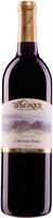 Bottle of Cabernet Franc: A dry bordeaux style red with our vinifera wine label featuring our Octagon shaped winery.