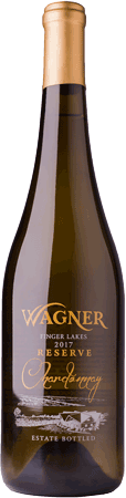 A bottle of our Reserve Chardonnay a signature style of Chardonnay lightly oaked with distinctive fruit flavors. MAIN