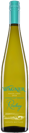Bottle of Caywood East Vineyard Riesling. A dry, single vineyard riesling made in the German Riesling style. MAIN