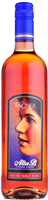 A bottle of Alta B Blush. A sweeter pink wine with a label featuring the winery founder's mother, Alta B._THUMBNAIL