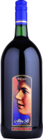 A magnum sized bottle of Alta B Red. A sweeter red wine with a label featuring the winery founder's mother, Alta B.