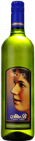 A bottle of Alta B White. A sweeter white wine with a label featuring the winery founder's mother, Alta B.
