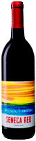 Bottle of Seneca Red wine with our Seneca Series label inspired by the sunsets on Seneca Lake
