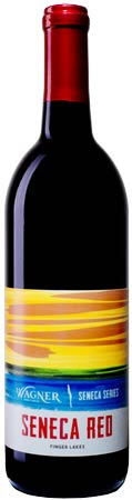 Bottle of Seneca Red wine with our Seneca Series label inspired by the sunsets on Seneca Lake MAIN