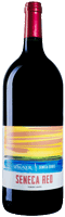 Magnum size bottle of Seneca Blush wine with our Seneca Series label inspired by the sunsets on Seneca Lake