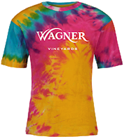Wagner Vineyards Logo Tie-Dyed T-shirt THUMBNAIL
