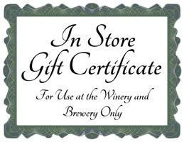 Icon image of a gift certificate to be used in our retail store