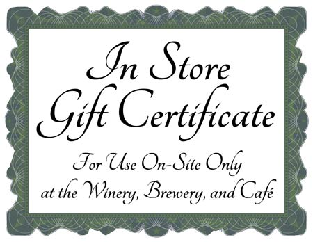 Icon image of a gift certificate to be used in our retail store LARGE