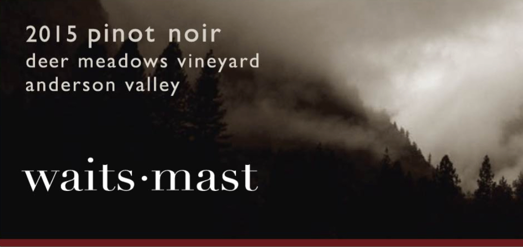 2015 Waits-Mast Pinot Noir, Deer Meadows Vineyard, Anderson Valley_THUMBNAIL