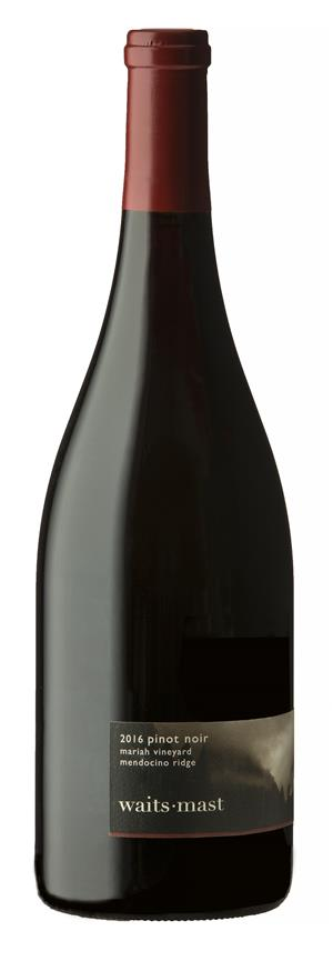 2016 Waits-Mast Pinot Noir, Mariah Vineyard, Mendocino Ridge LARGE