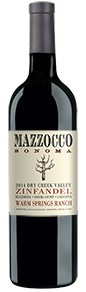 2014 Mazzocco Zinfandel, Warm Springs Ranch Reserve, Dry Creek Valley