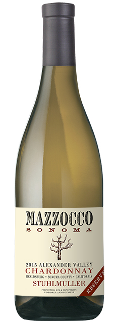 2015 Mazzocco Chardonnay, Stuhlmuller Reserve, Alexander Valley