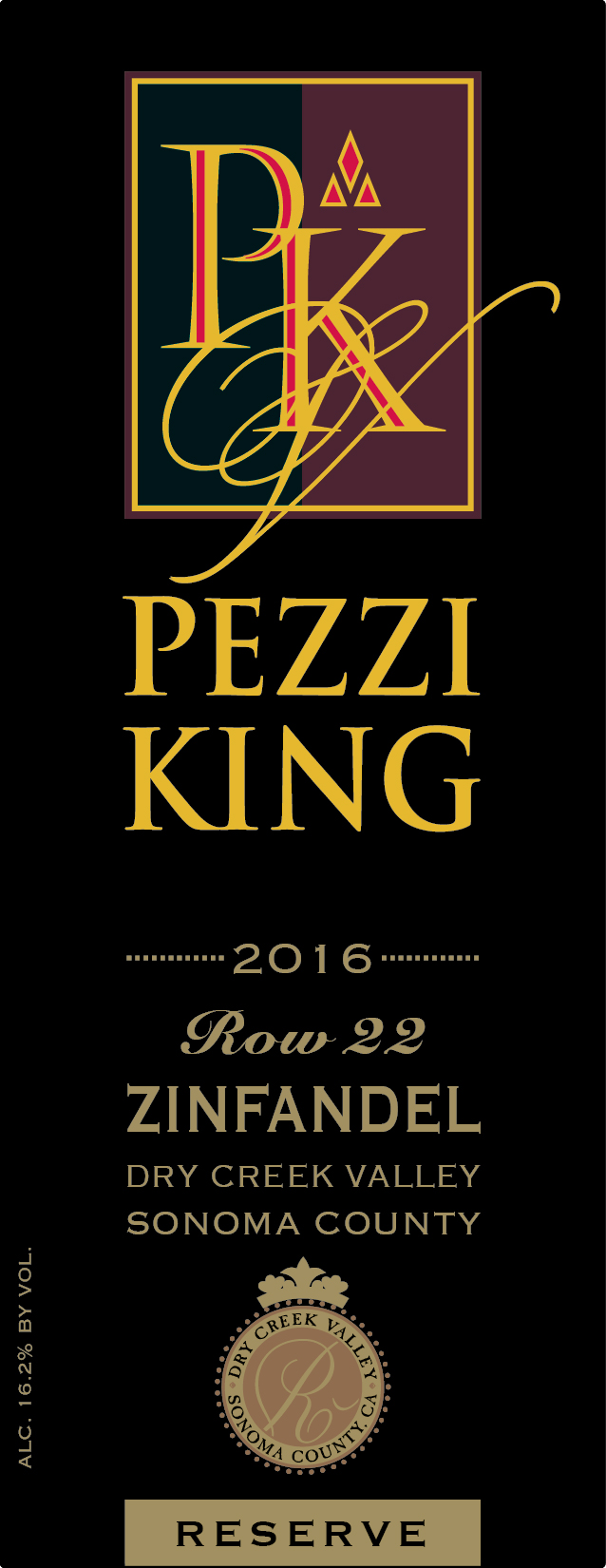 2016 Pezzi King Zinfandel, Row 22 Reserve MAIN