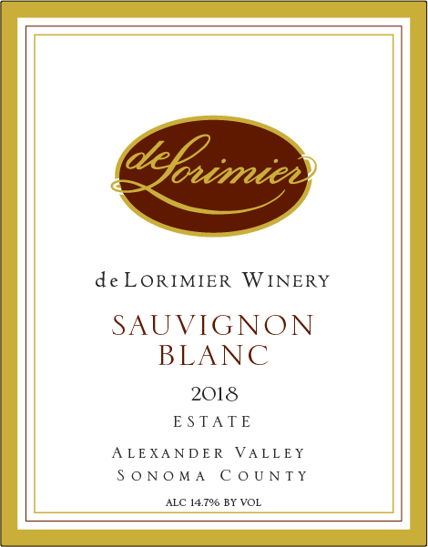 2018 deLorimier Sauvignon Blanc, Alexander Valley, Estate MAIN