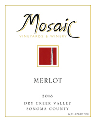 2018 Mosaic Merlot, Dry Creek Valley THUMBNAIL