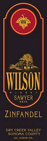 2015 Wilson Sawyer Keys Barrel Select Reserve Zinfandel THUMBNAIL