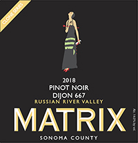 2018 Matrix Pinot Noir Russian River Valley, Dijon Clone 667 THUMBNAIL