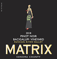 2018 Matrix Pinot Noir, Bacigalupi Russian River Valley THUMBNAIL